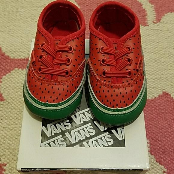amazon on wholesale cute Vans Crib Shoe Red Watermelon